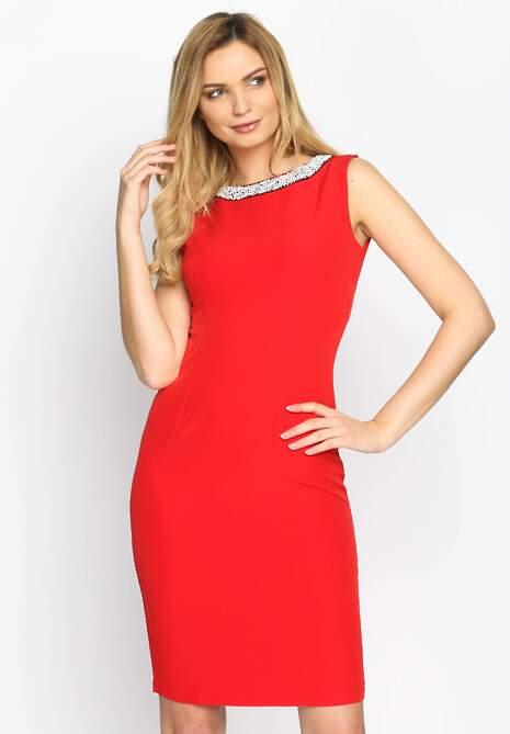 Czerwona Sukienka Sparkler