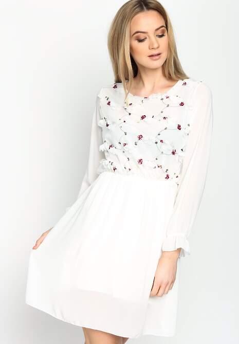 Biała Sukienka Acoustic Shadow