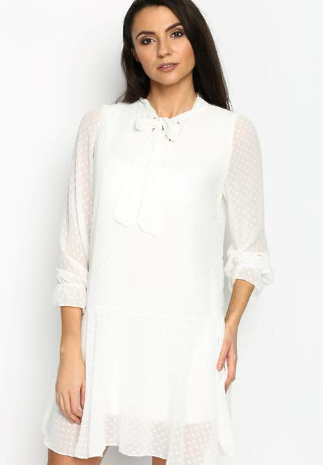 Biała Sukienka Romantic Love