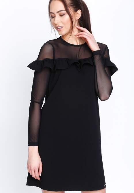 Czarna Sukienka Romantic Lady