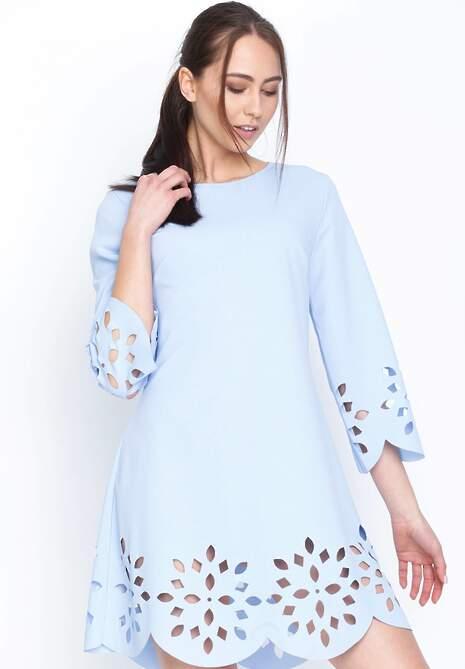 Niebieska Sukienka Spring Coming
