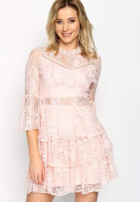 Różowa Sukienka Midnight Sun