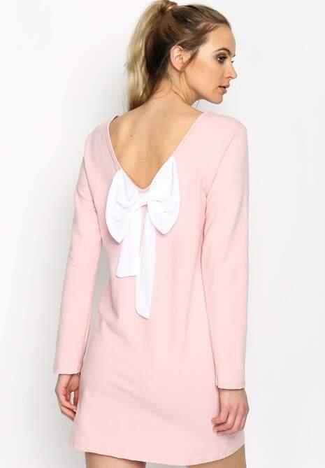 Różowa Sukienka Minnie Bow