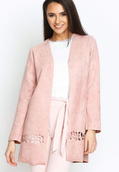 Różowy Płaszcz Floral Ornaments