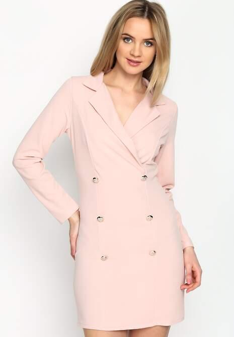 Różowa Sukienka Unclassic Tuxedo