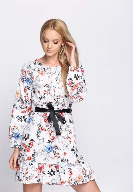 Biała Sukienka Florentin
