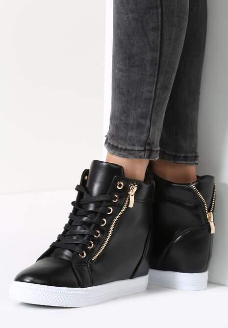 Czarne Sneakersy Marmie