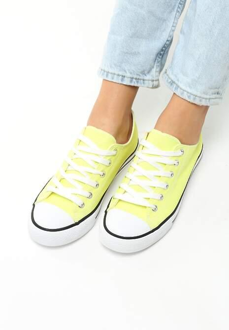 Żółte Neonowe Trampki Tyren