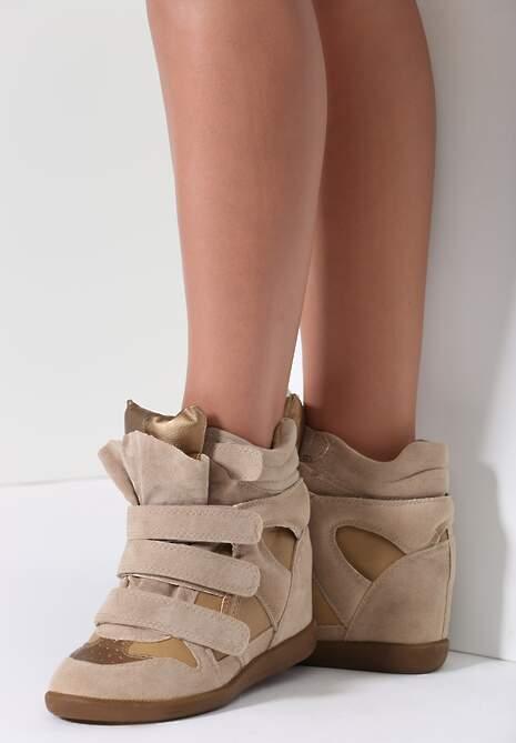 Beżowe Sneakersy Dopio
