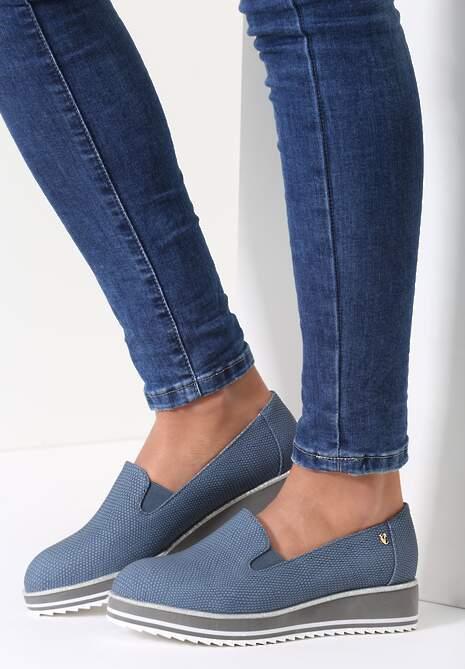Granatowe Slip On Lean