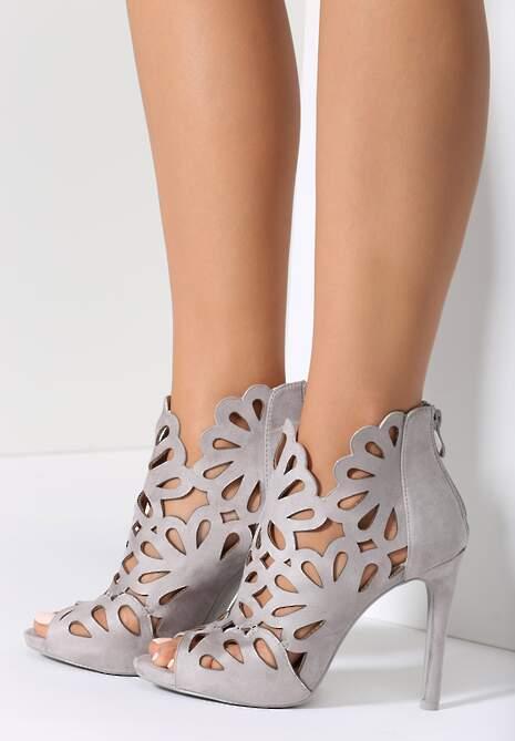 Szare Sandały Preciose