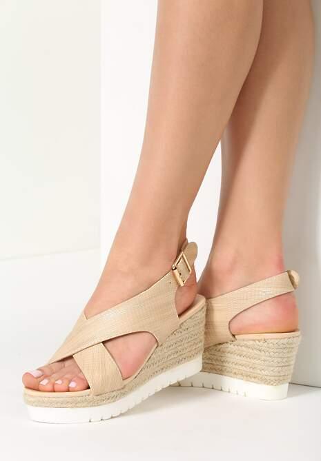 Beżowe Sandały Deja Vu