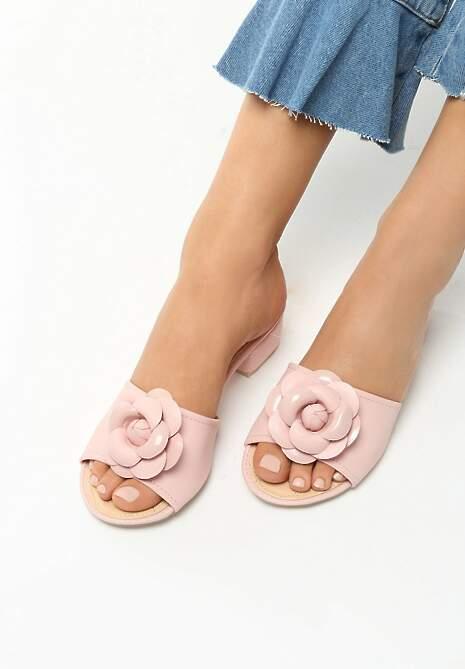 Różowe Klapki Flourish