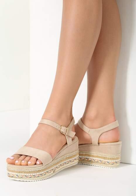 Beżowe Sandały Pick Up