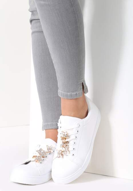 Białe Buty Sportowe Pinn