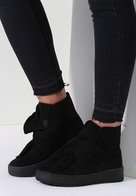 Czarne Sneakersy Scilla
