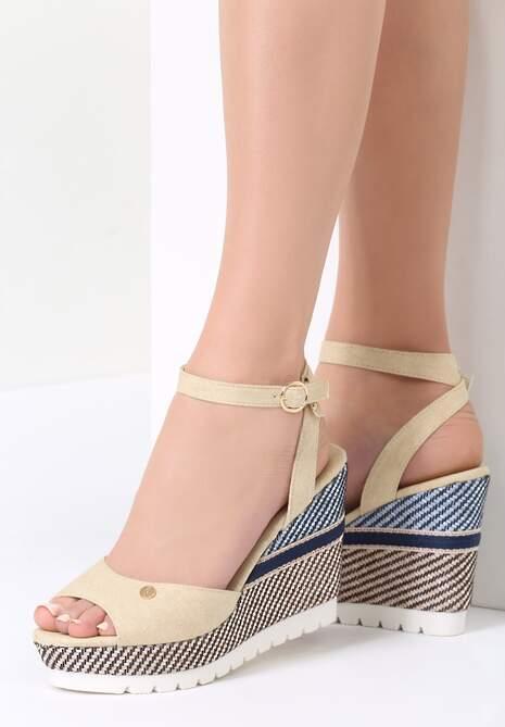 Beżowe Sandały Virtue