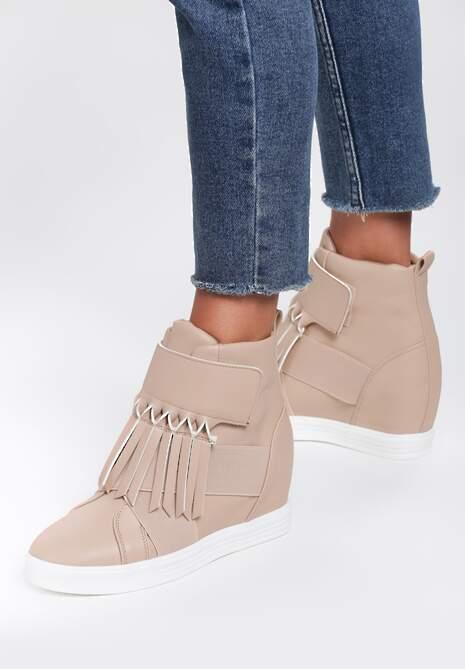 Beżowe Sneakersy Maritta