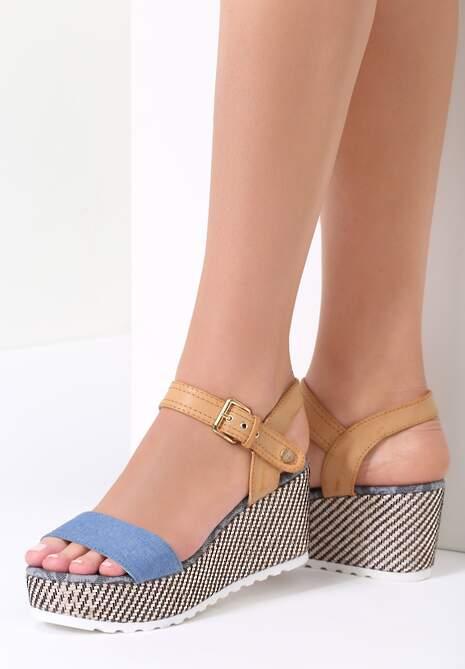 Granatowe Sandały Chunk