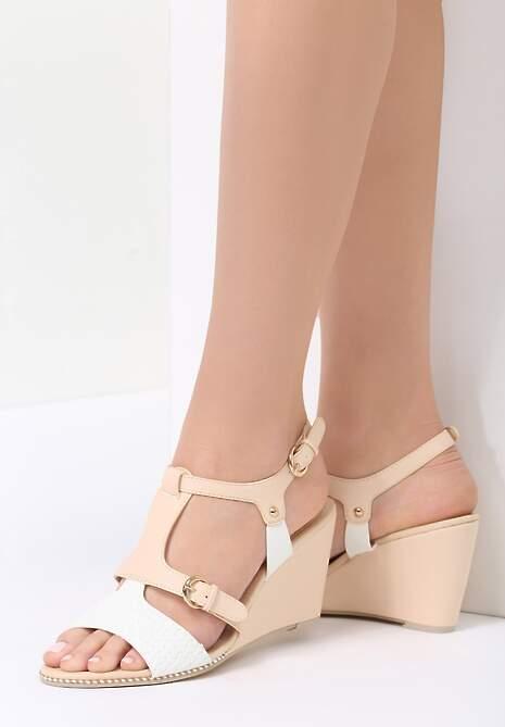 Beżowe Sandały Fortune Teller