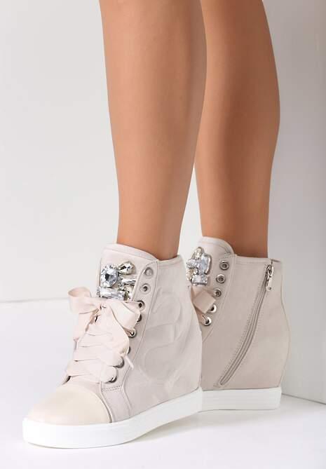 Beżowe Sneakersy Kassi
