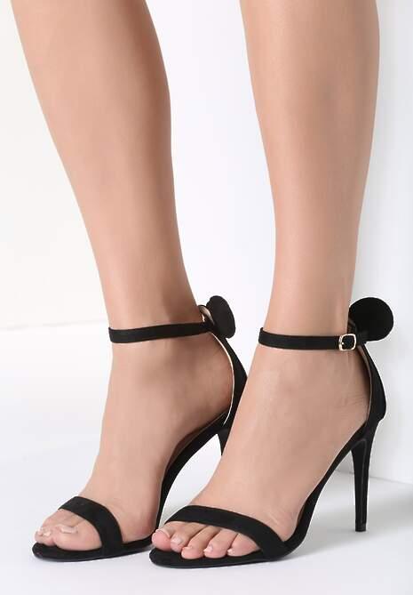 Czarne Sandały Cute Mouse