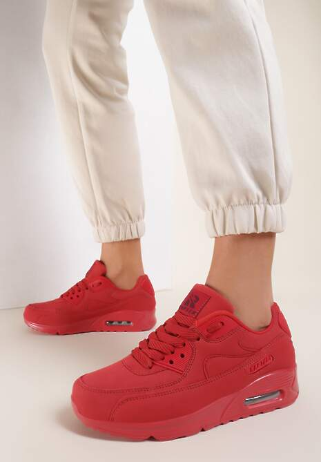 Czerwone Buty Sportowe Vintage Nilda