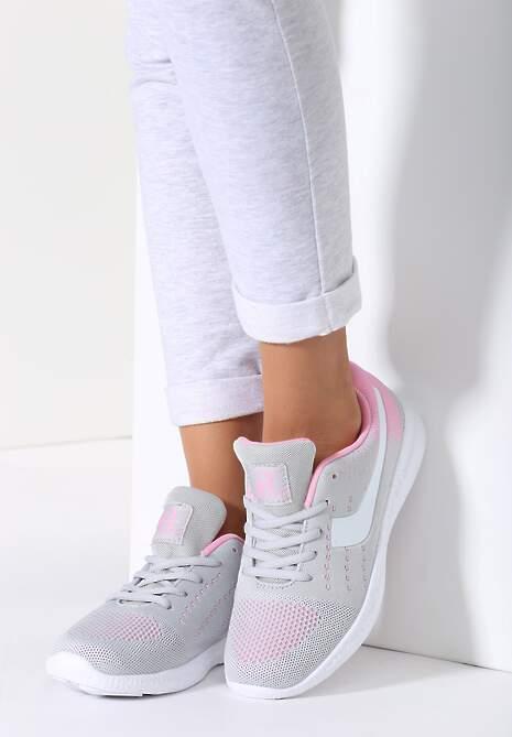 Szaro-Różowe Buty Sportowe Fabulous