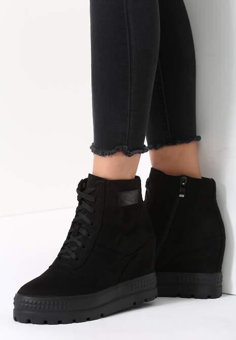 Czarne Sneakersy More You