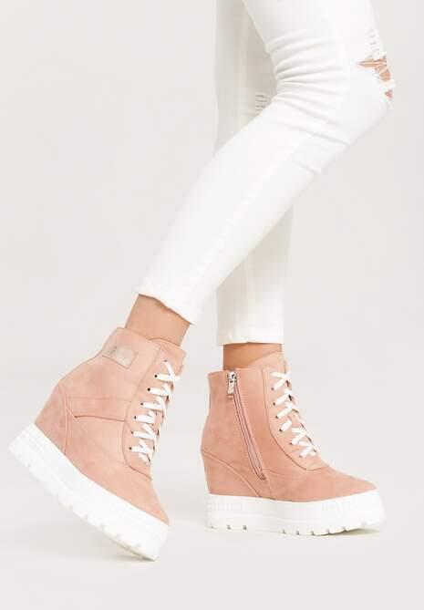 Różowe Sneakersy More You
