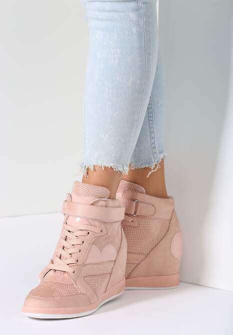 Różowe Sneakersy Broken Heart