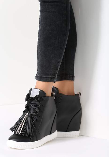 Czarne Sneakersy Honeymoon