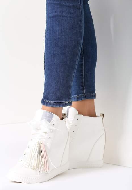Biało-Złote Sneakersy Honeymoon