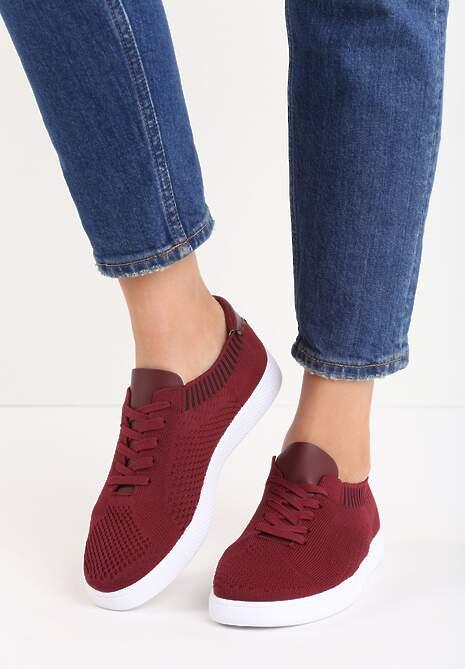 Bordowe Buty Sportowe Socksy