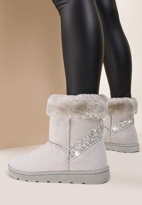 Jasnoszare Śniegowce Vanity Fair