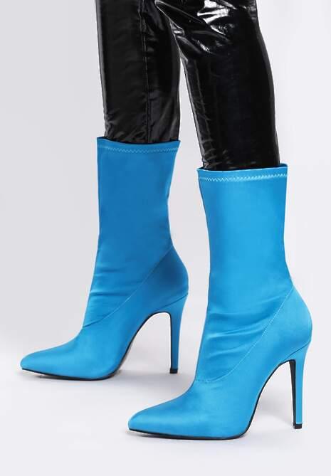Niebieskie Botki Burlesque