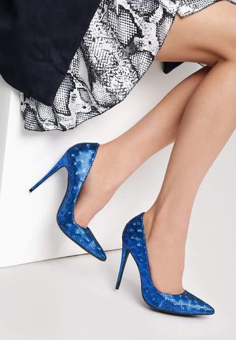 Niebieskie Szpilki Kick Up Heels