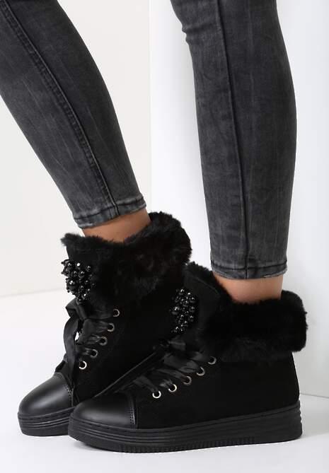 Czarne Sneakersy Deceive