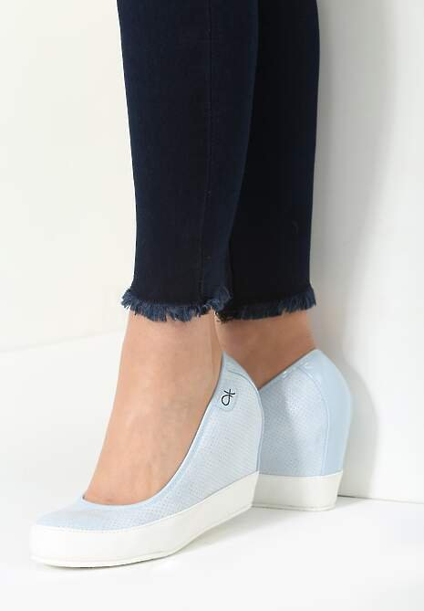 Niebieskie Koturny Casual Step