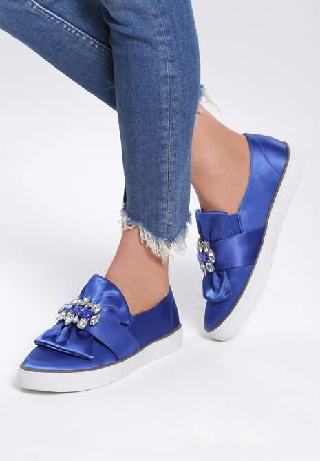 Niebieskie Slip On Never Too Late