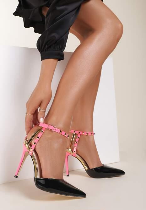 Czarne Sandały Carrie