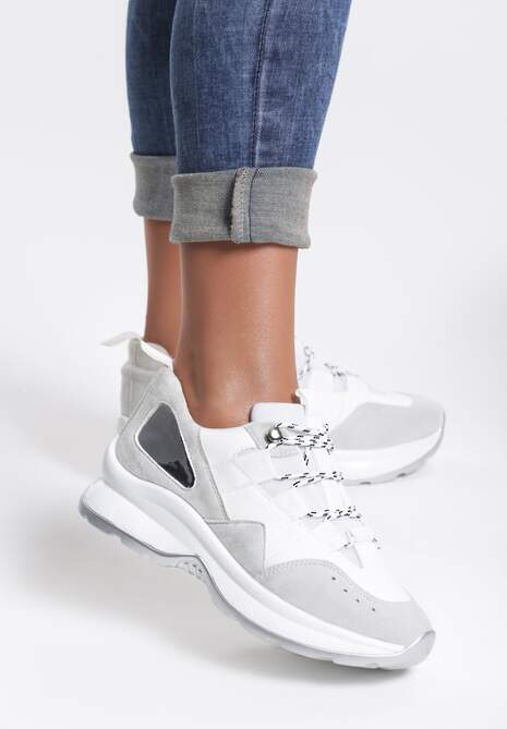 Białe Sneakersy Militant