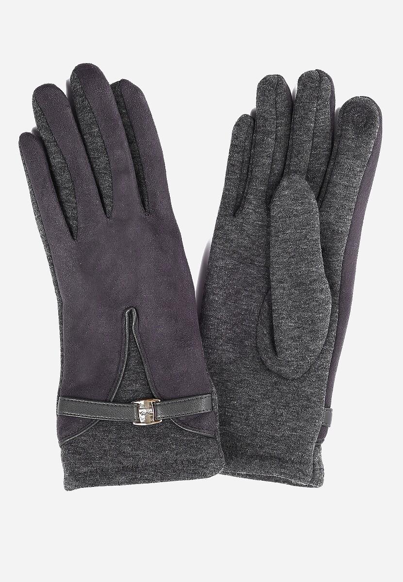 Ciemnoszare Rękawiczki Grace