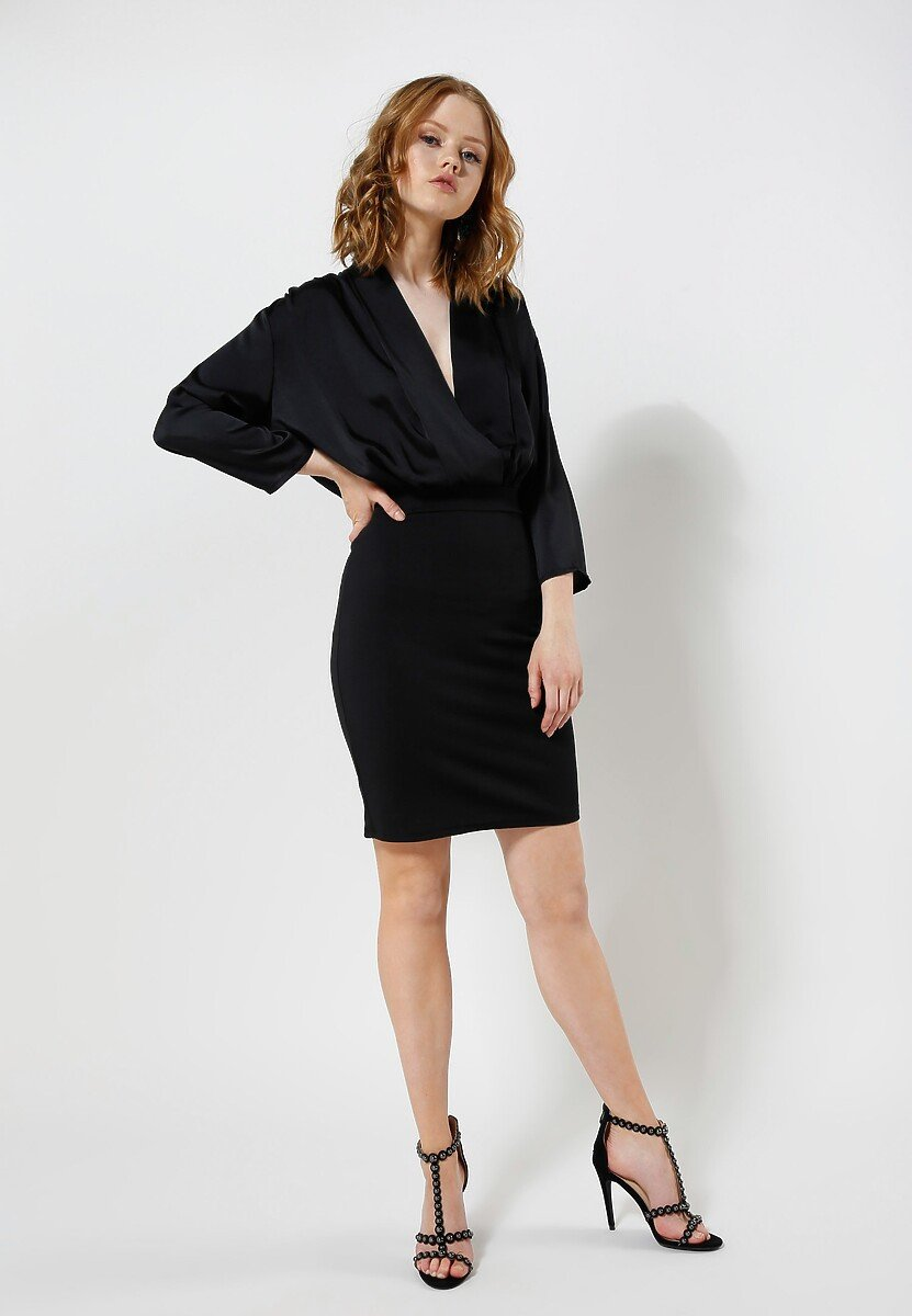 Czarna Sukienka Silk Shades