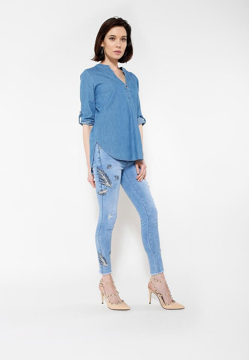 Niebieskie Jeansy Feather Me
