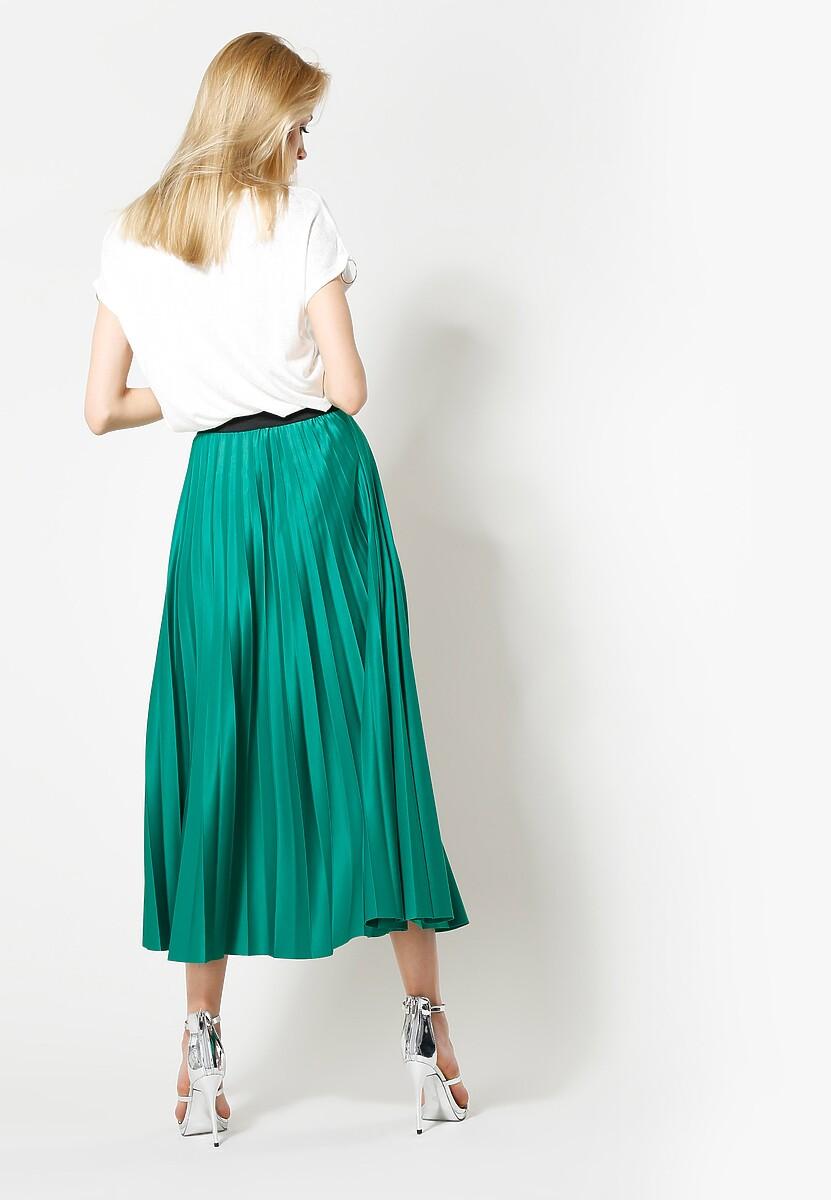 Zielona Spódnica Pleated Story