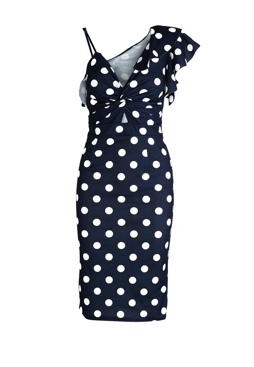 Granatowa Sukienka Dalmatic