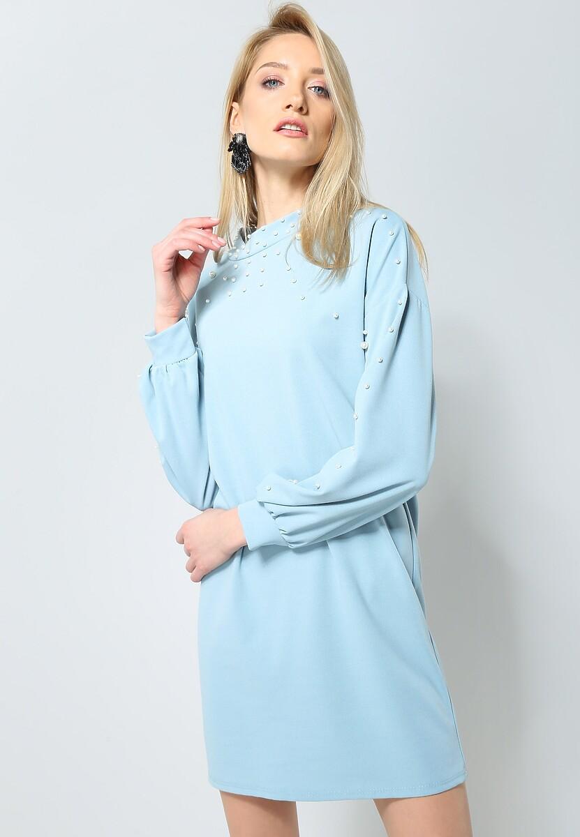 Niebieska Sukienka Night Pearl