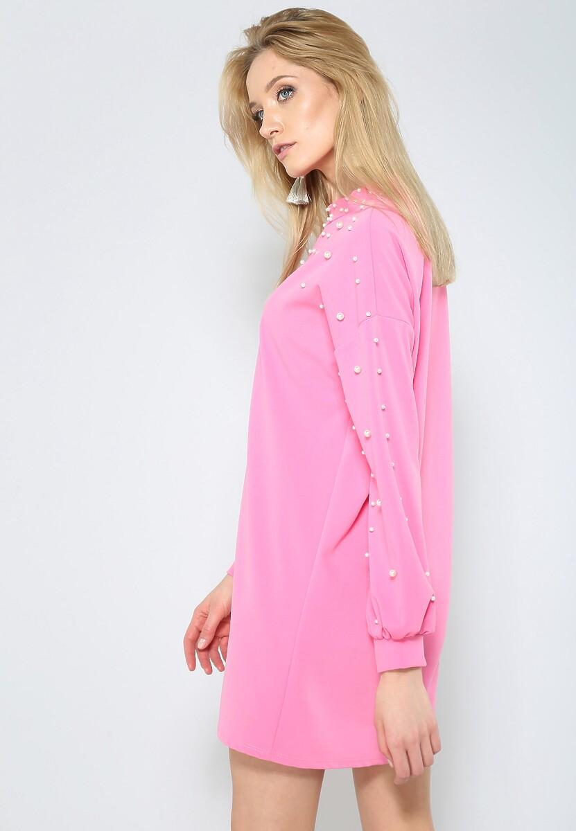 Ciemnoróżowa Sukienka Night Pearl
