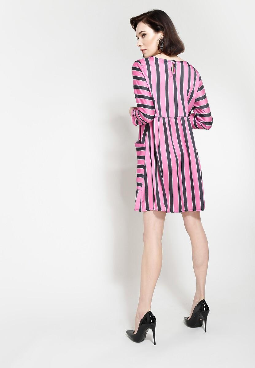 Fuksjowa Sukienka Straight Line